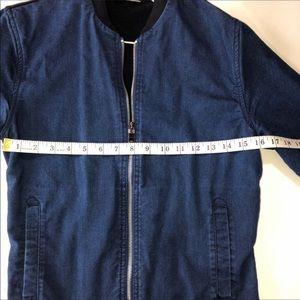 Zara Man Denim Bomber Jacket size S